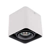 DL-044 SQUARE SINGLE DOWNLIGHT SURFACE MOUNTED BLACK/WHITE